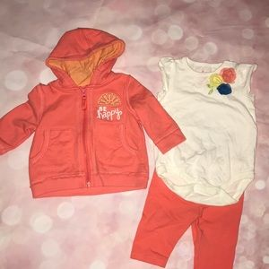 "Baby girl ""be happy"" set"